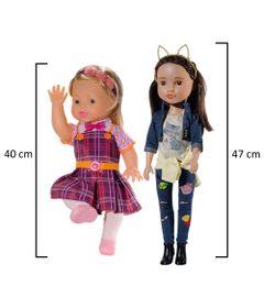 Kit-Bonecas-Carinhas-de-Anjo---Dulce-Maria-40-cm---Juju-47-cm---Novabrink