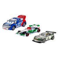 Kit-de-Carrinhos-em-Diecast-Prata---Disney-Carros---Nigel-Gearlesy-Raoul-CaROULE-Fracesco-Bernoulli-e-Jeff-Gorvette---Mattel