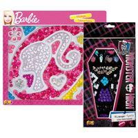 Kit-de-Micangas-para-Pulseiras---Monster-High-e-Barbie---Fun