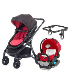 Travel-System-com-Adaptador---Urban-Plus-Keyfit-Fire-e-Color-Pack-Plus---Red---Chicco
