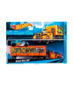 Caminhao-Transportador-Hot-Wheels---Road-Roller-Laranja---Mattel