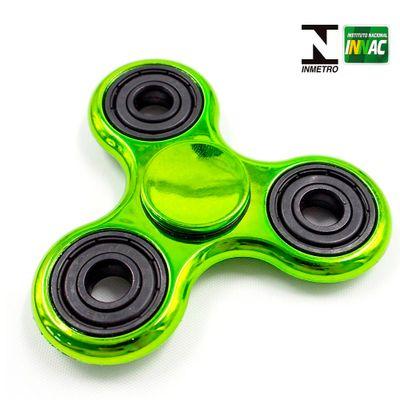 Hand Spinner Anti Stress Certificado - Fidget Spinner Special Metalizado - Verde - Candide