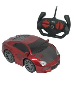 Carrinho-de-Controle-Remoto---Famous-Car---Vermelho---Candide