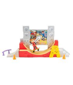 Playset-e-Figura---Alvin-e-os-Esquilos---Pista-de-Skate-do-Alvin---Mattel