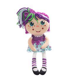 Pelucia-2-em-1---30-Cm---Flipzee-Girls---Roxinha-com-Flores---DTC