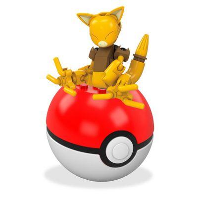 bloco-de-montar-mega-construx-pokemon-pokebola-abra-mattel