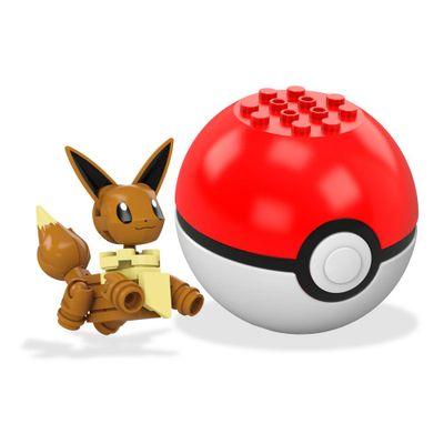 bloco-de-montar-mega-construx-pokemon-pokebola-eevee-mattel
