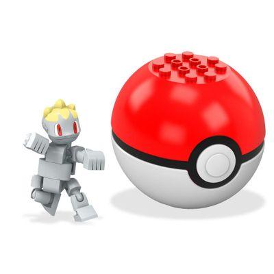 Bloco de Montar - Mega Construx - Pokémon - Pokebola - Machop - Mattel