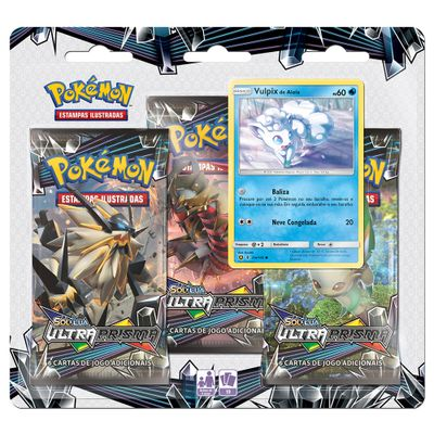 Deck Pokémon - Triple Deck - Sol e Lua Ultra Prisma - Vulpix - Copag