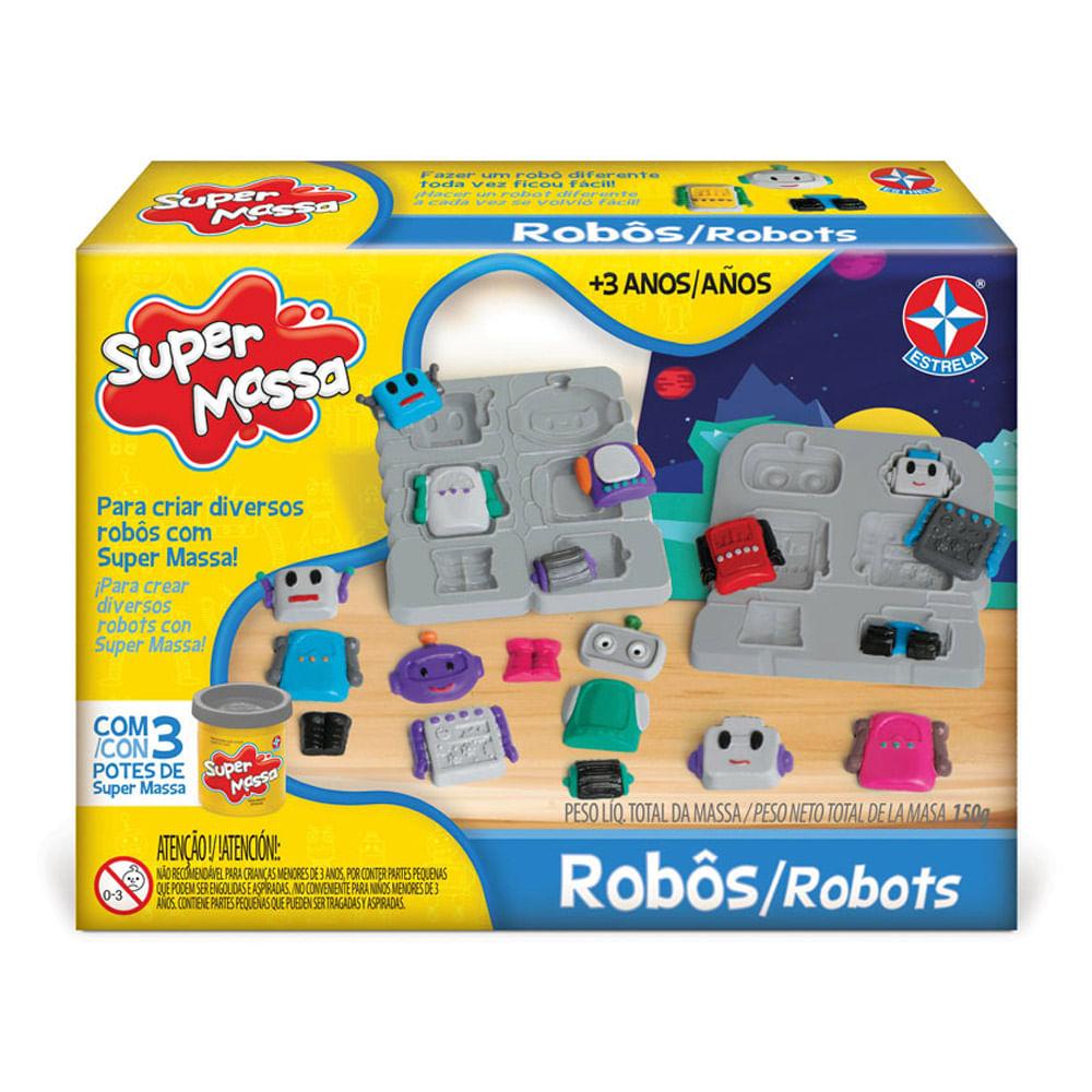 Massa de Modelar - Super Massa - Robôs - Estrela