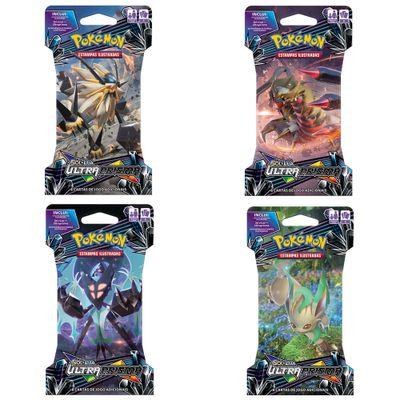 Kit com 4 Decks Pokémon - Sol e Lua Ultra Prisma - 98633 - Copag