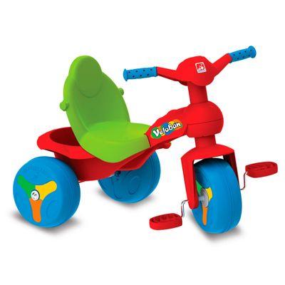 Triciclo Veloban - Vermelho e Verde - Bandeirante