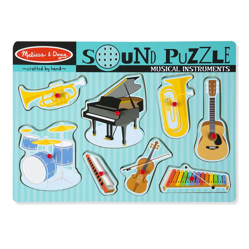 Quebra-Cabeça - 8 Peças - Sonoro - Instrumentos Musicais - Melissa And Doug