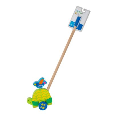 Puxa e Empurra de Madeira - Imaginarium - Animais - Tartaruga - New Toys
