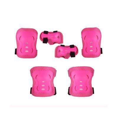 Conjunto de Proteção - Skateboard e Rollers - Rosa - 3 Peças - Bel Fix - M