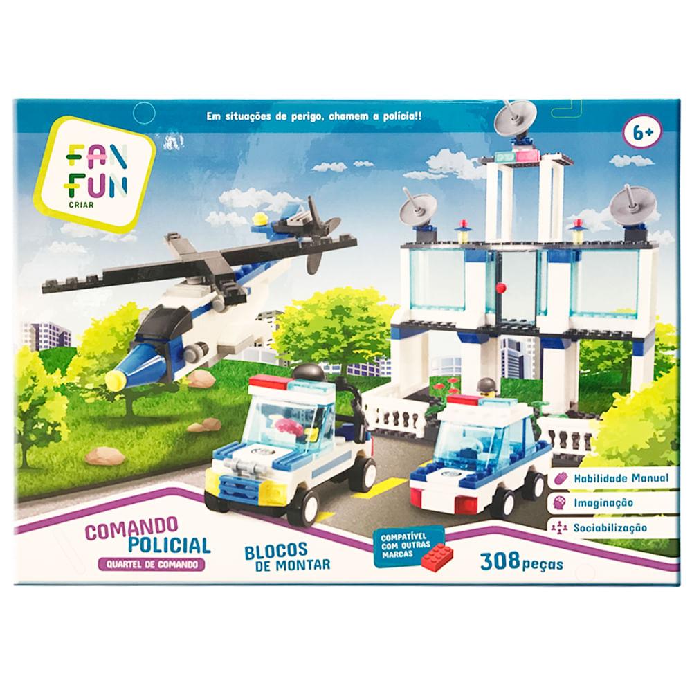 Blocos de Montar - Comando Policial - Quartel De Comando - 308 Peças - TUDO Metrópolis