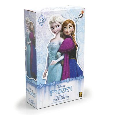 Quebra-Cabeça Contorno - 80 Peças - Disney - Frozen - Grow