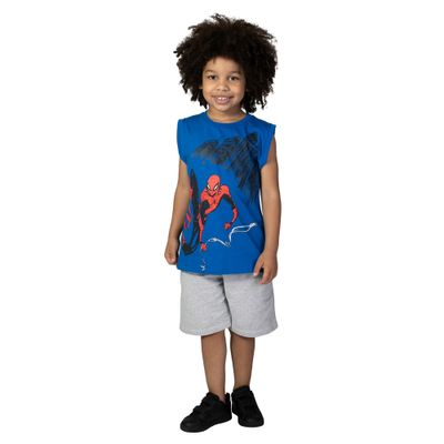 Camiseta Machão - Meia Malha - Azul Royal - Silk - Marvel - Spider-Man - Disney - 4