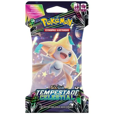 Deck Pokémon - Blister Unitário - Sol e Lua - Tempestade Celestial - Jirachi - Copag
