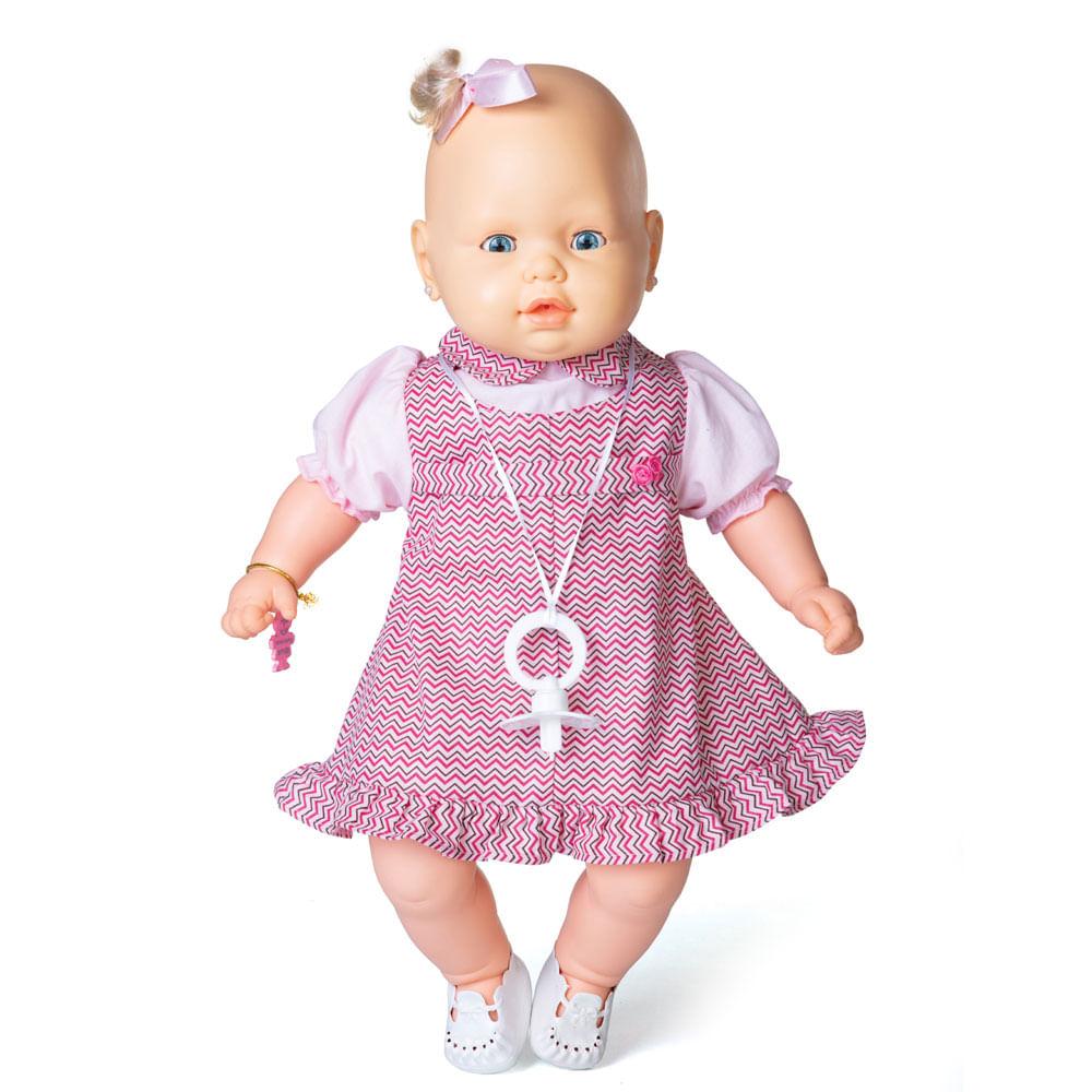 Boneca - Bebezinho - Vestido Rosa - Estrela