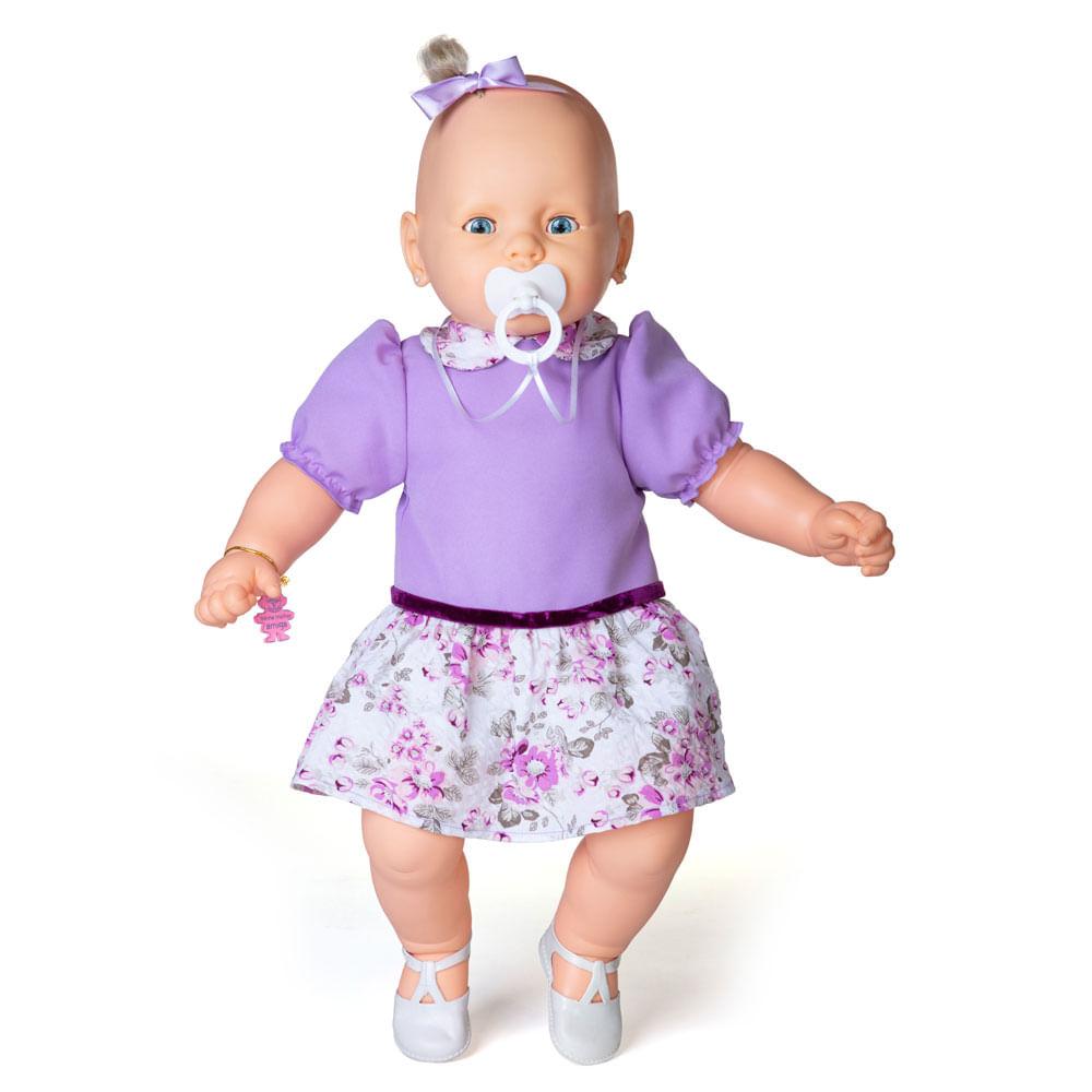Boneca - Meu Bebê - Vestido Lilás - Estrela