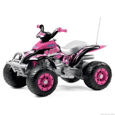 Quadriciclo Elétrico - 12 V - Corral T-Rex - New Pink - Peg Pérego