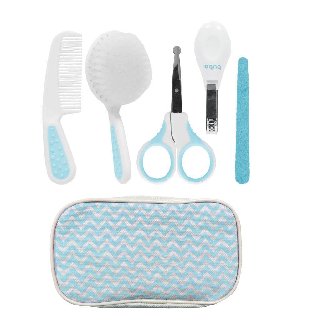 Conjunto de Acessórios de Higiene - Cuidados Baby - 9 Peças - Azul - Buba