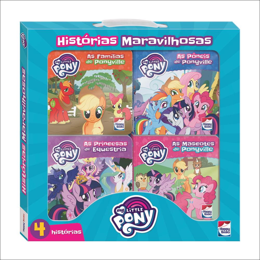 Livro Infantil - My Little Pony - Histórias Maravilhosas - Kit com 4 - Happy Books