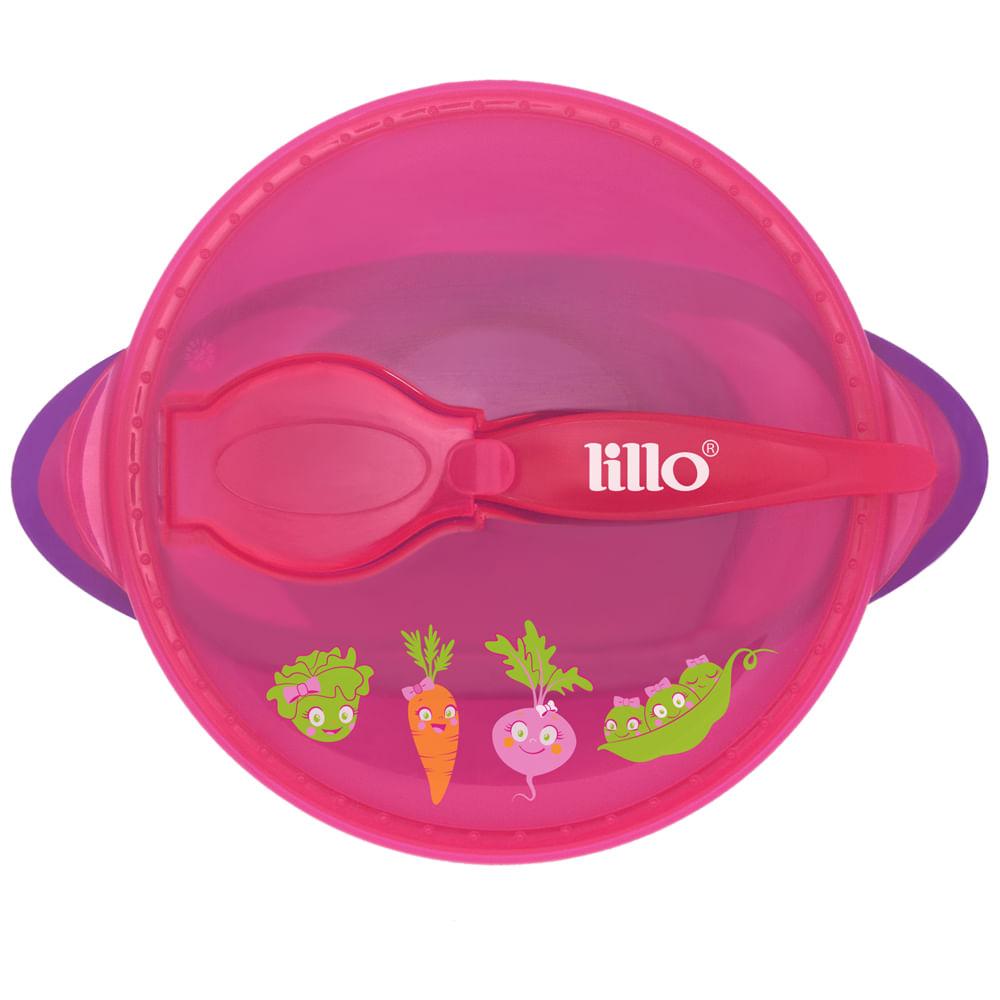 Prato com Ventosa Design Rosa - Legumes - Lillo