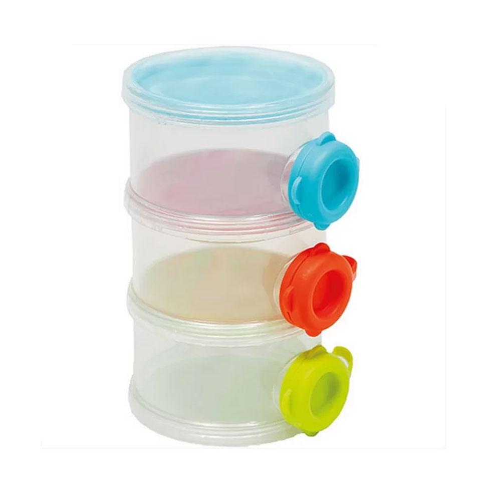 Conjunto de Potes para Leite em Pó - 3 Potes Empilháveis - Buba