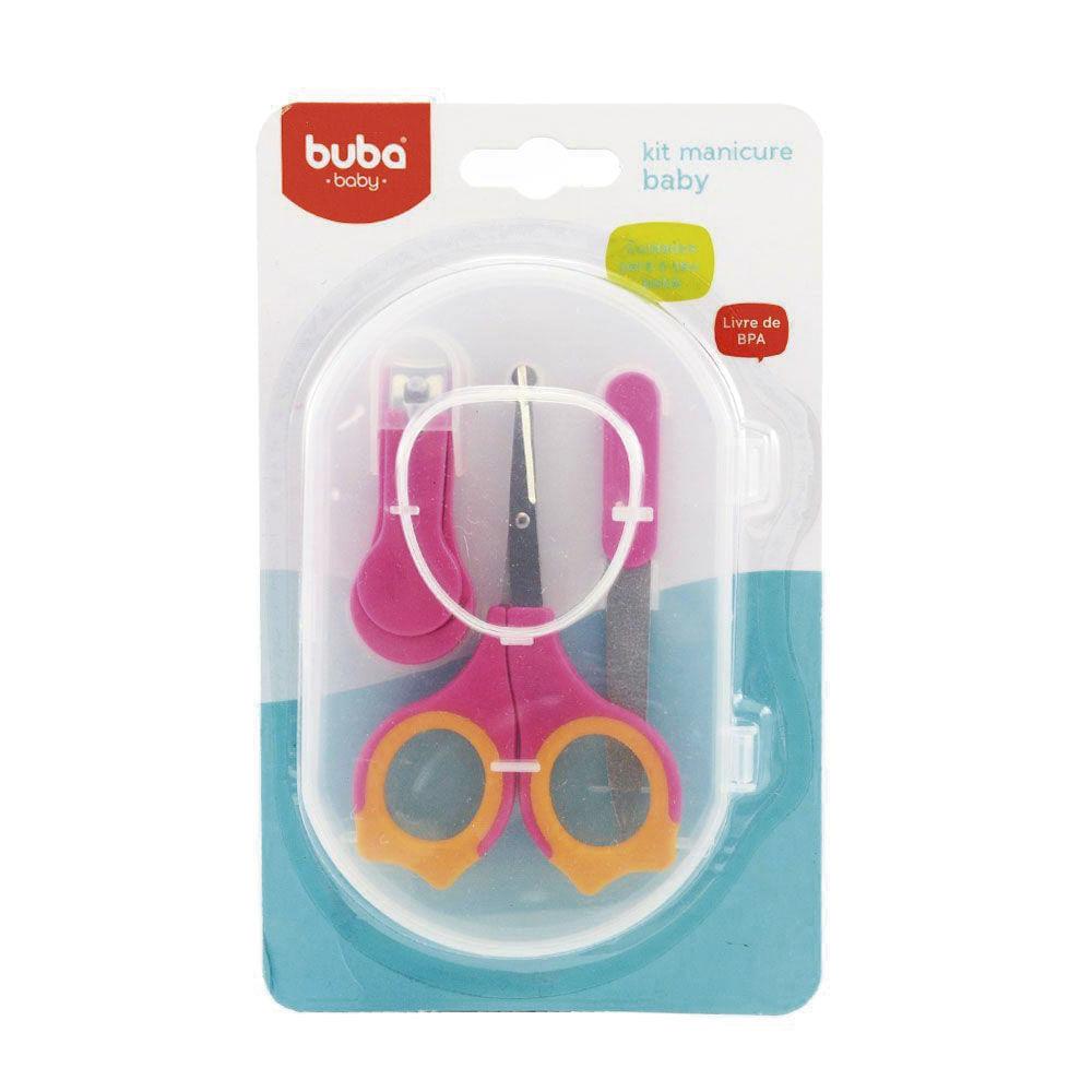 Conjunto de Higiene - 3 Unidades - Manicure Baby - Rosa - Buba