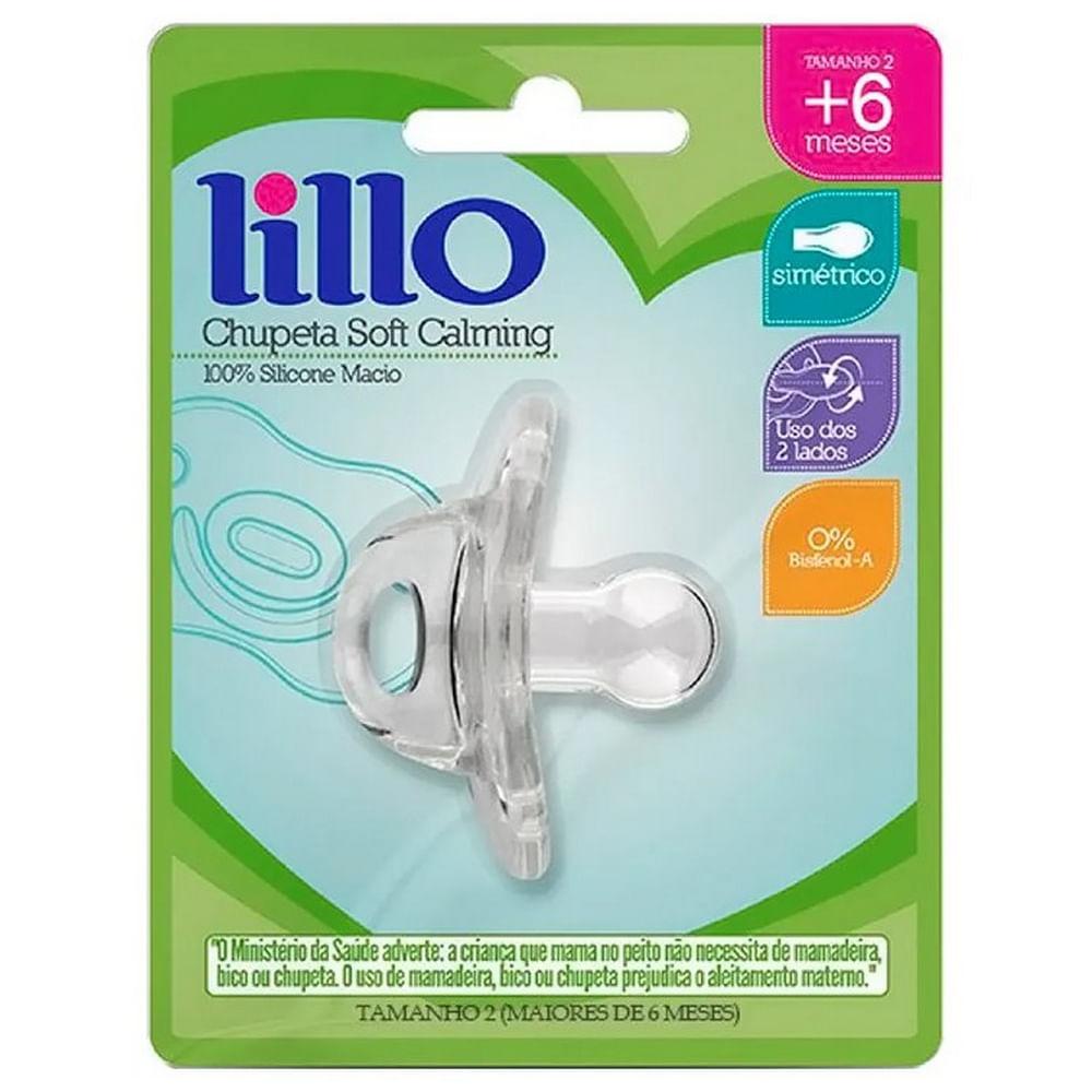 Chupeta de Silicone - Soft Calming - Tamanho 2 - Transparente - Lillo