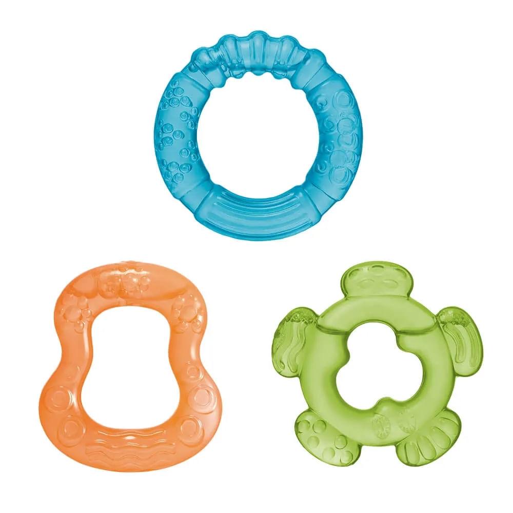 Mordedor com Água - Azul - Tender Bites - 3 Peças - Multikids