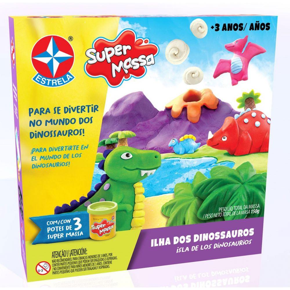 Massa de Modelar - Super Massa - Ilha dos Dinossauros - Estrela