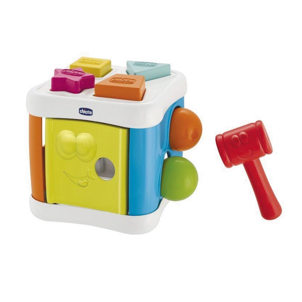 Brinquedo de Atividades - Cubo Bate Bate - 2 em 1 - Chicco