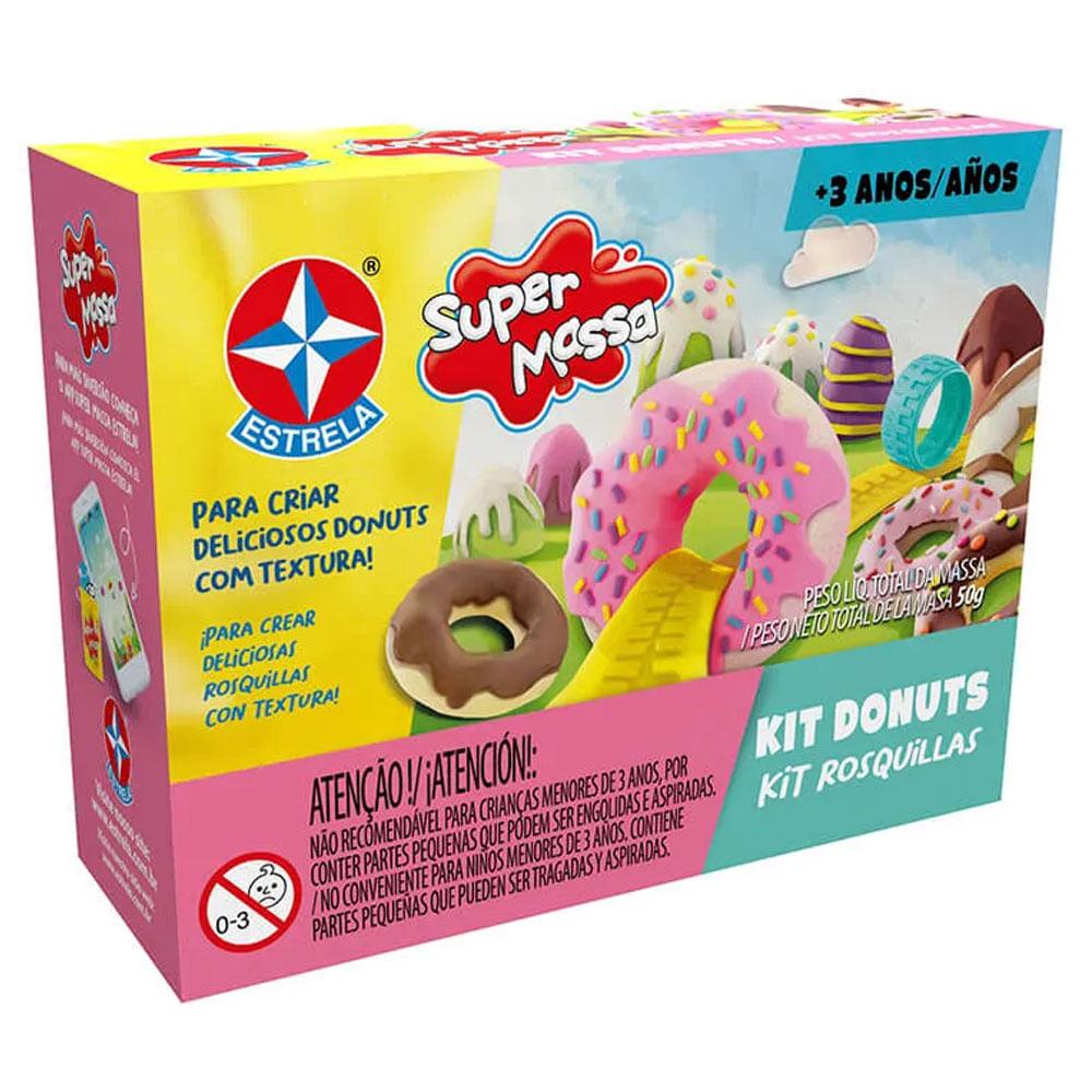 Massa de Modelar - Super Massa - Donuts - Estrela