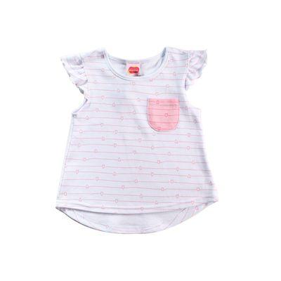 Blusa Infantil - Estampa Coração - 100% Algodão - Branco - Minimi - 1