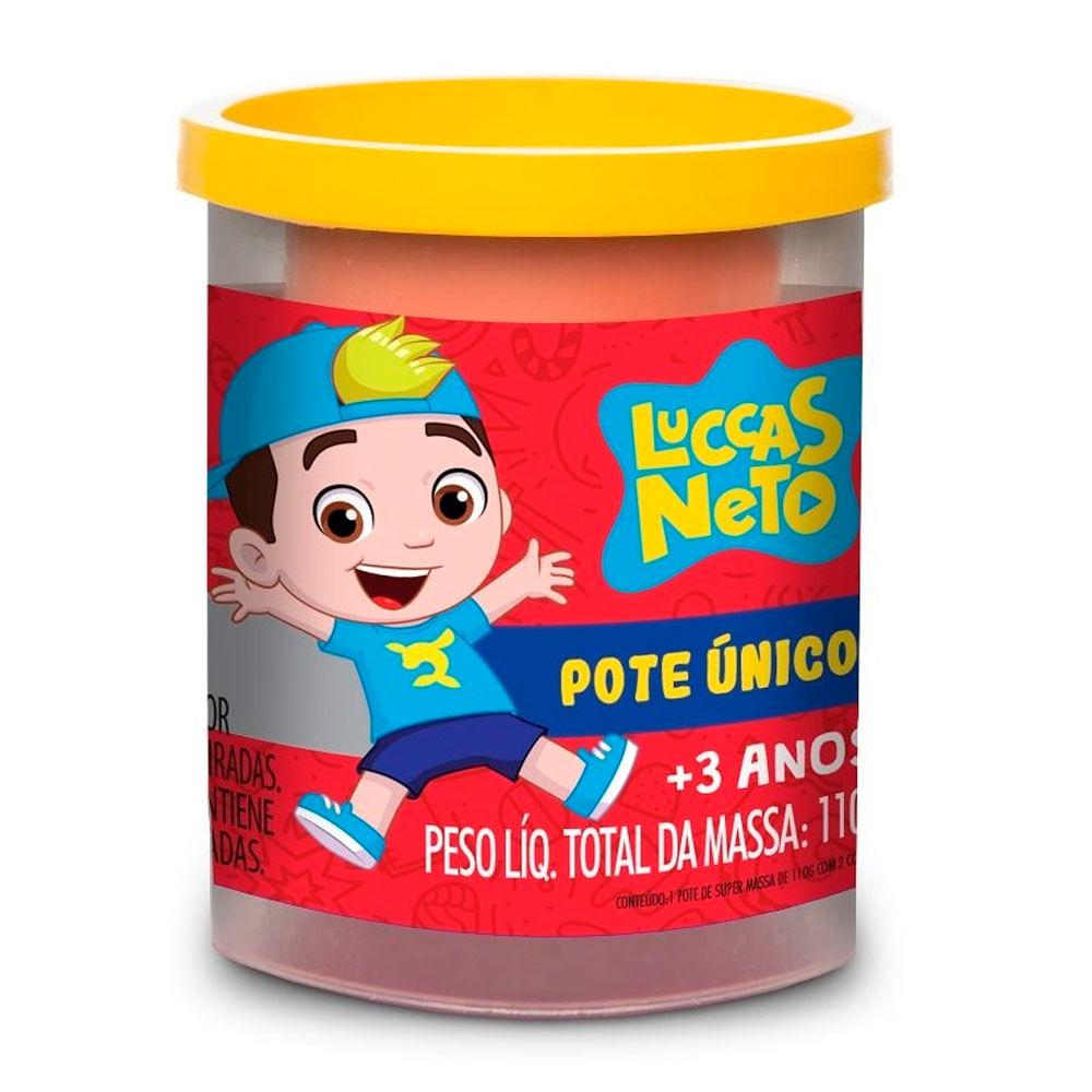 Massa de Modelar - Super Massa - Luccas Neto - Pote Único - 110Gr - Amarelo - Estrela