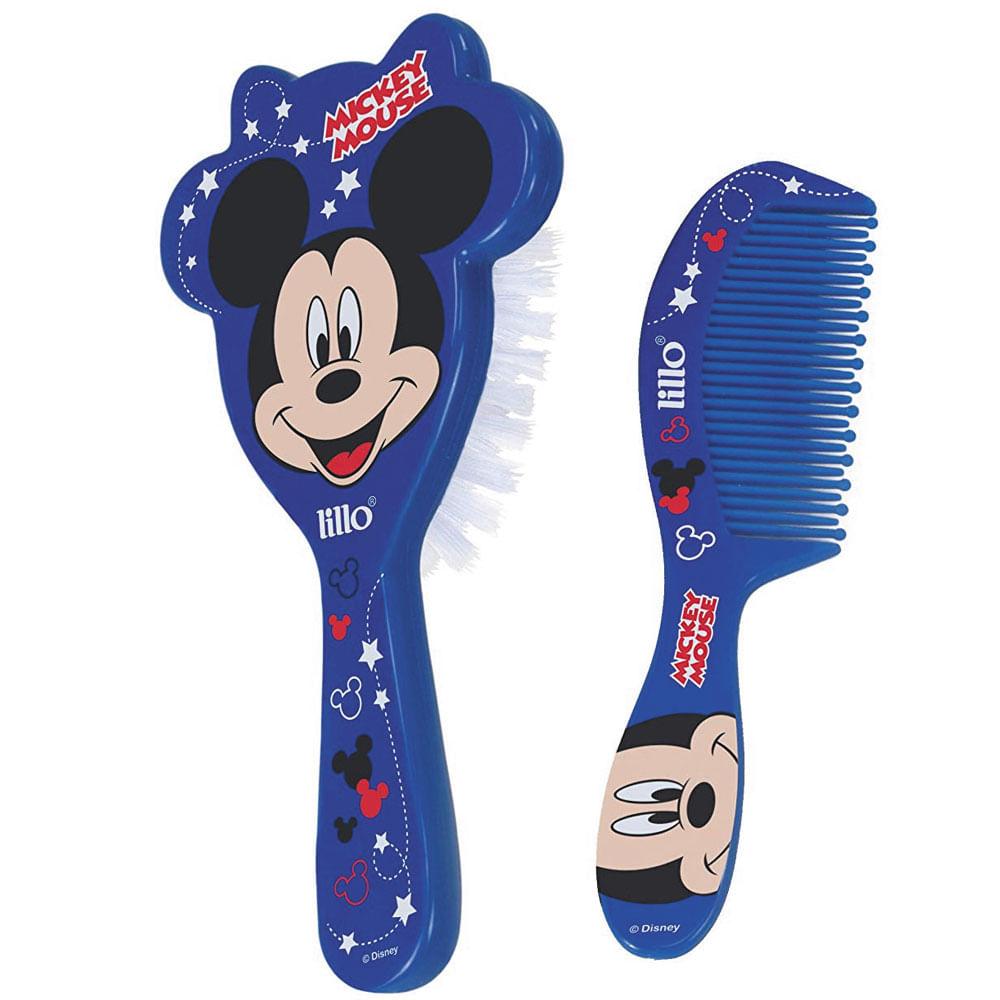 Conjunto de Higiene - Escova de Cabelo e Pente - Disney - Mickey Mouse - Lillo