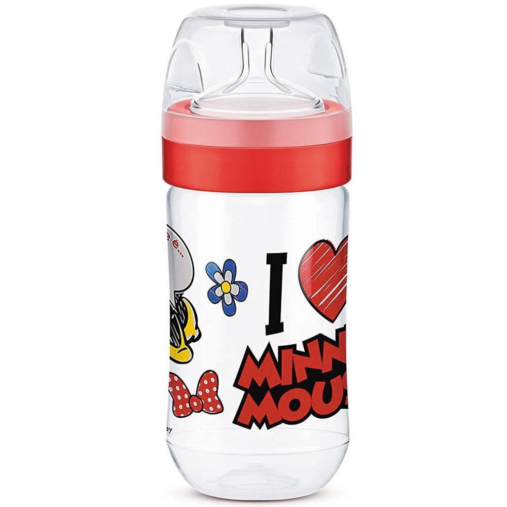Mamadeira Transparente - 300Ml - Super Evolution - Disney - Minnie Mouse - Lillo
