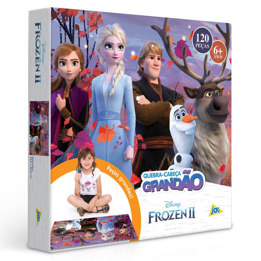Quebra-Cabeça Grandão - 120 Peças - Disney - Frozen 2 - Aventura - Toyster