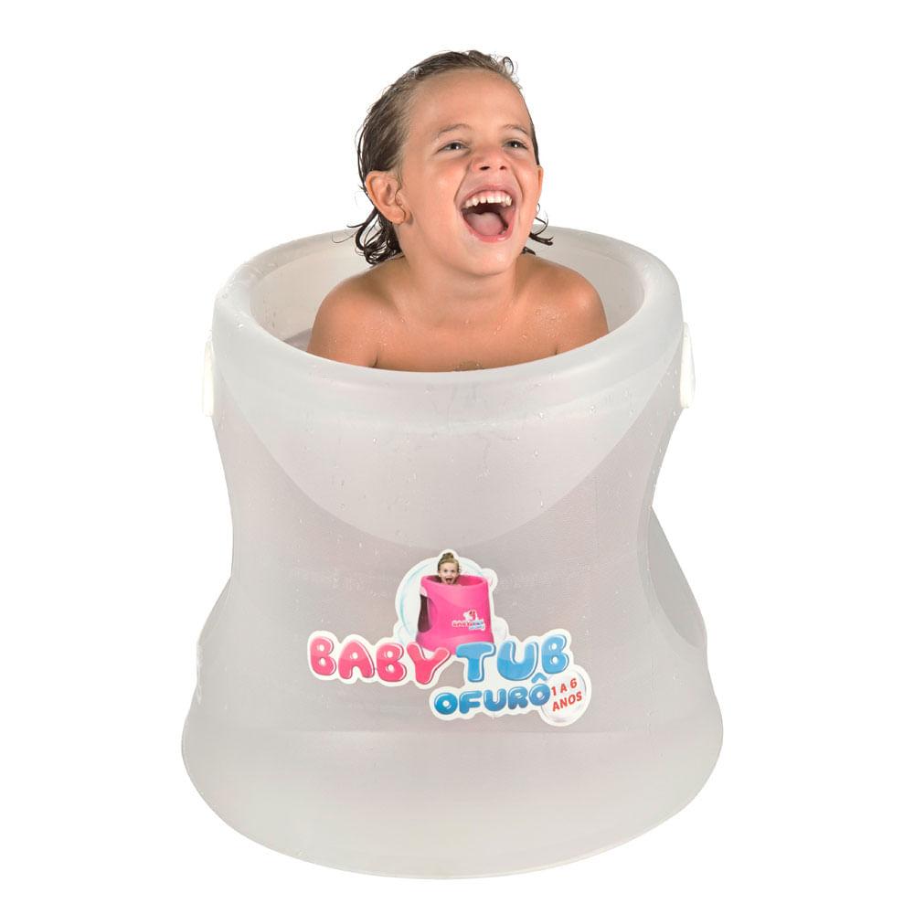 Banheira Babytub Ofurô - De 1 a 6 Anos - Transparente - Baby Tub