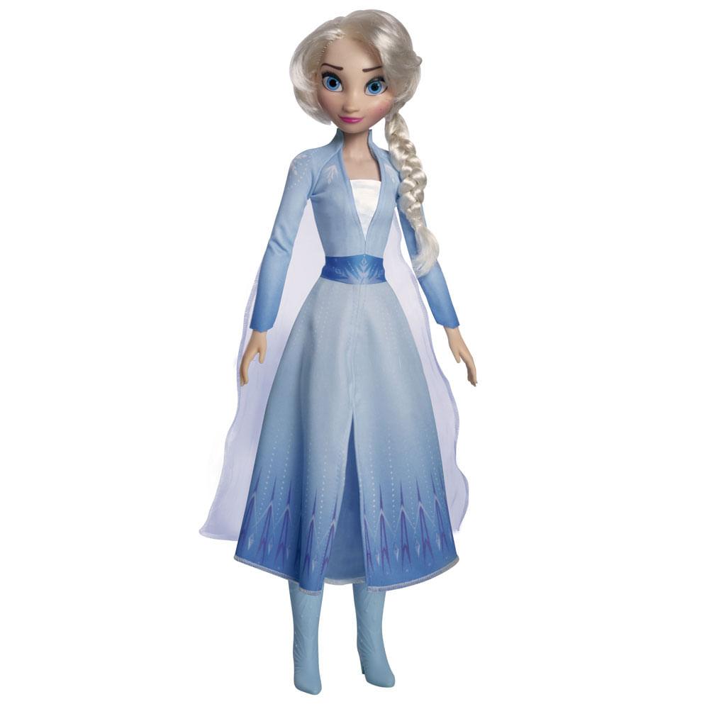 Boneca Articulada - 55 Cm - Mini My Size - Disney - Frozen 2 - Elsa - Novabrink