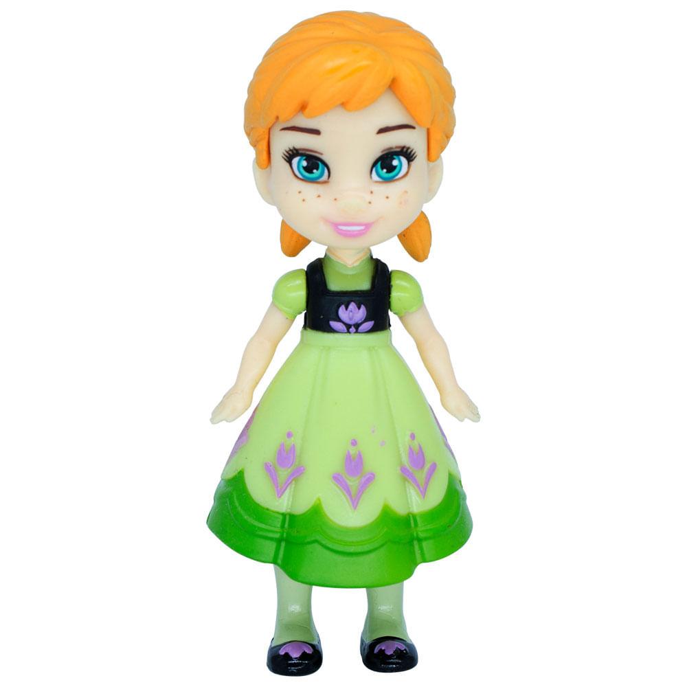 Mini Boneca Articulada - 8 Cm - Disney - Frozen - Anna Vestido Verde - Mimo