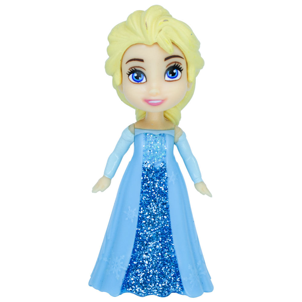 Mini Boneca Articulada - 8 Cm - Disney - Frozen - Elsa Vestido Turquesa - Mimo