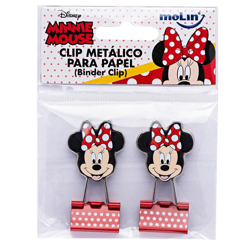 Conjunto de Clips Metálicos - Blinder Clip - 2 Unidades - Disney - Minnie Mouse - Molin