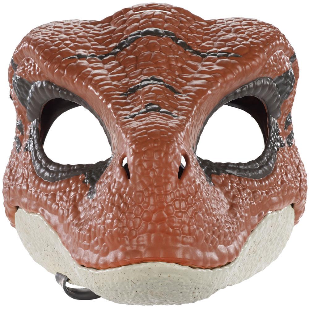 Máscara Básica - Jurassic World 2 - Velociraptor Marrom - Mattel