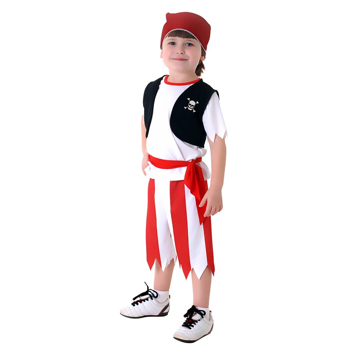Fantasia Pirata Masculino Bebê - Carnaval