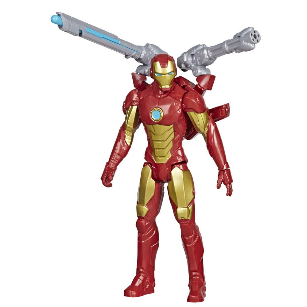 Boneco Articulado - 20 Cm - Disney - Marvel - Vingadores - Homem de Ferro - Lançador - Hasbro