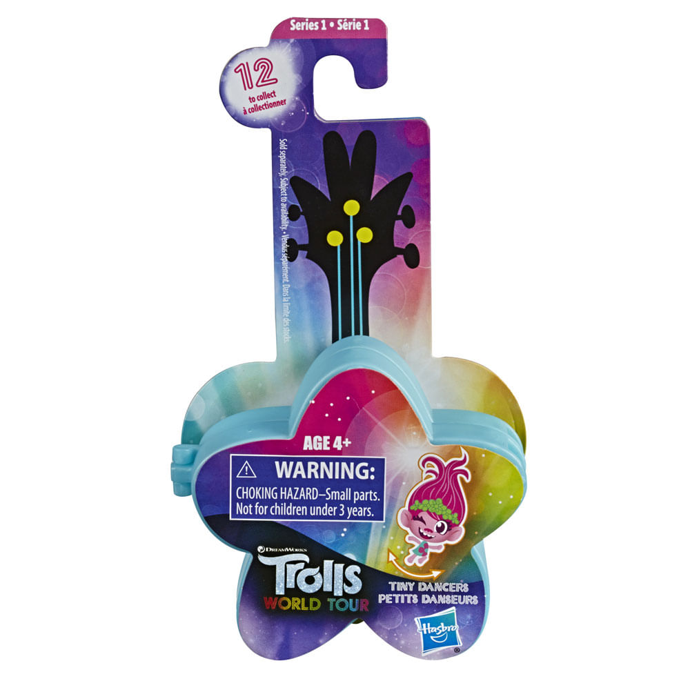 Mini Figura com Acessórios - Trolls - Pequenos Dançarinos - Estrela - Azul - Hasbro